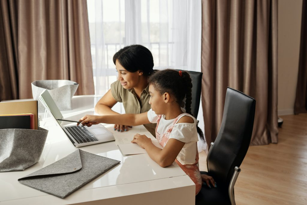 Online Schooling at Home with Parent